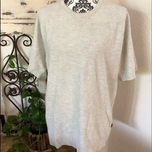 Lucky brand men's cream heathered tee shirt